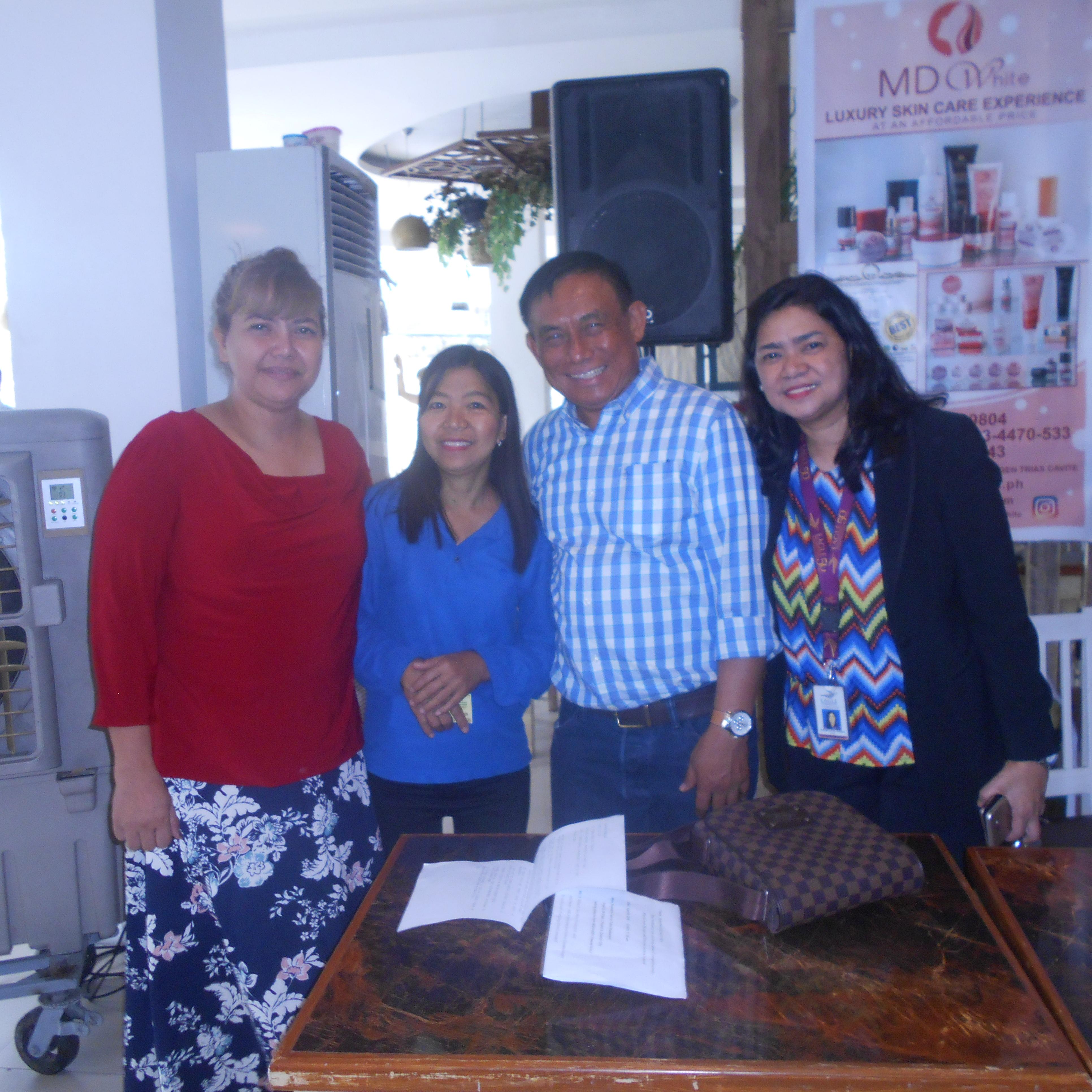 PHOTO Dr. Jun Soriano, Melody Aguiba, Belle Surara, and Ms. Juvy