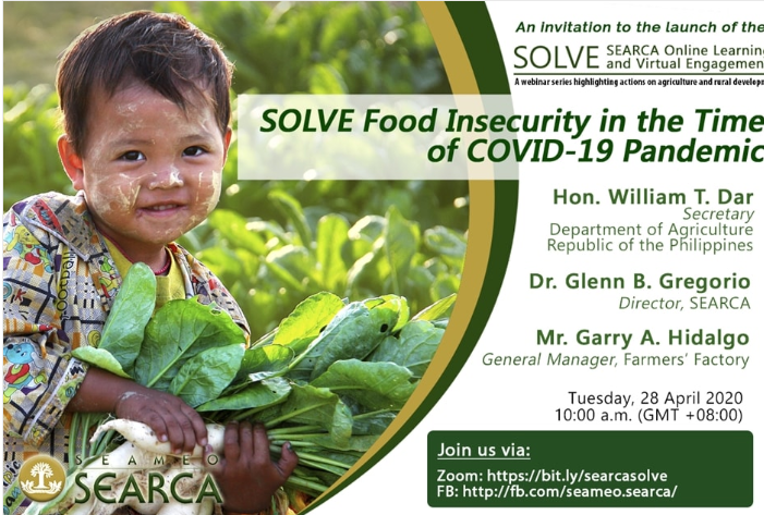 Agri digitalization, e-agriculture, e-Kadiwa pushed as COVID-19 threatens food security, drags down farmers'income
