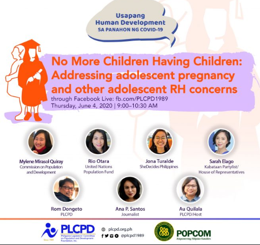 POPCOM sees family planning education, more options as vital to counter unplanned pregnancies duringpandemic