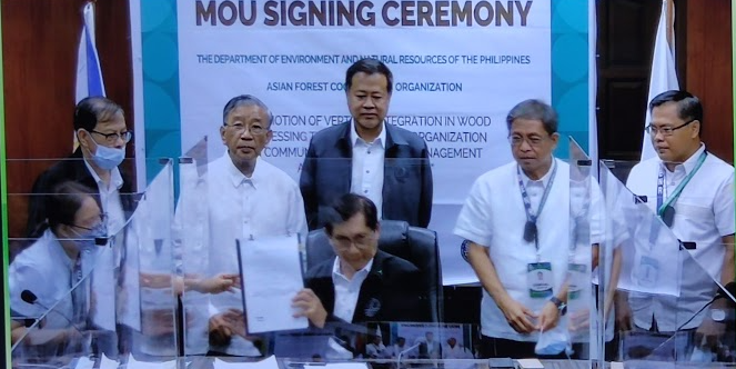 DENR enters MOU with AFoCO for value added wood production from Negros Oriental, Agusan del Sur forests, project to generate jobs for grassrootscommunities